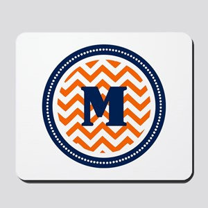 Orange & Navy Mousepad